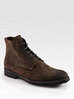 To Boot New York - Livingston Suede Lace-Up Boots