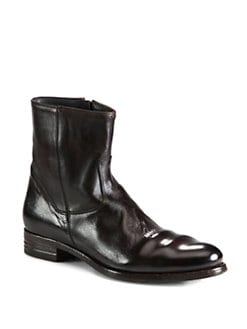 To Boot New York - Shane Side-Zip Leather Boot