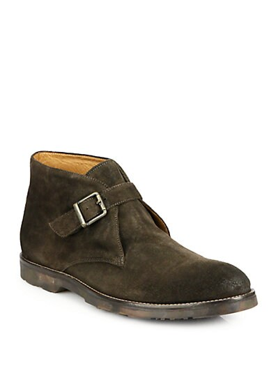 Raphael Suede Monk-Strap Chukka Boots
