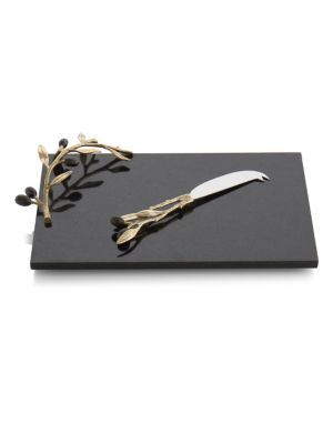 Olive Branch Two-Piece Cheese Board & Knife Set