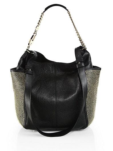 Anna Studded Pocket Shoulder Bag