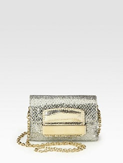 Jimmy Choo - Glitter Fabric Mini Crossbody Bag
