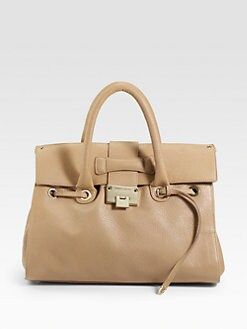 Jimmy Choo - Rosalie Grainy Calf Medium Satchel