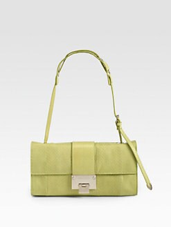 Jimmy Choo - Matte Snakeskin Shoulder Bag