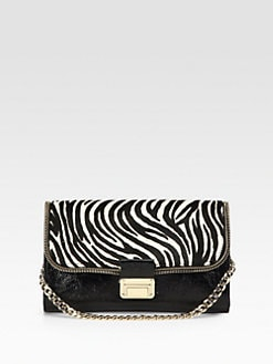Jimmy Choo - Mixed-Media Shoulder Bag