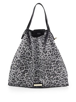 Jimmy Choo - Cameleon Leopard-Patterned Nylon Tote