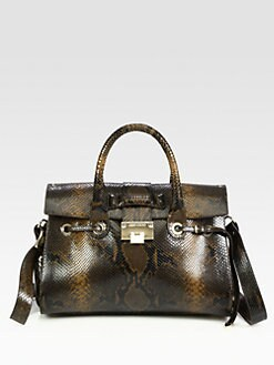Jimmy Choo - Rosalie Snake Embossed Leather Satchel