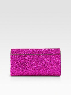 Jimmy Choo - Neon Glitter Fabric Clutch