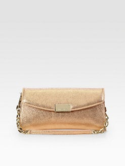 Jimmy Choo - Riane Metallic Leather Wallet Clutch