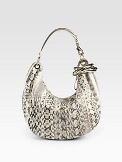 Jimmy Choo - Solar Small Snakeskin Hobo