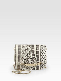 Jimmy Choo - Shadow Snakeskin Chain Mini Bag