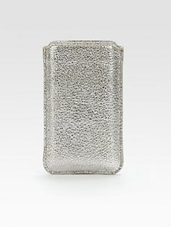 Jimmy Choo - Trent Glitter Metallic Leather iPhone Case