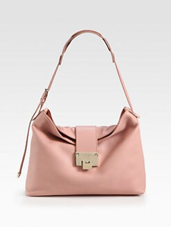 Jimmy Choo - Rachel Grainy Calf Leather Shoulder Bag