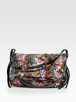 Jimmy Choo - Floral Python Biker Shoulder Bag