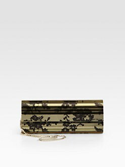 Jimmy Choo - Sweetie Lace-Print Mirrored Acrylic Clutch