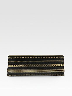 Jimmy Choo - Ciggy Chain-Embellished Clutch