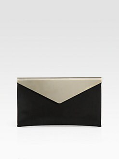 Jimmy Choo - Shimmer Suede & Metal Clutch
