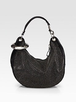 Jimmy Choo - Metal Bangle Studded Hobo