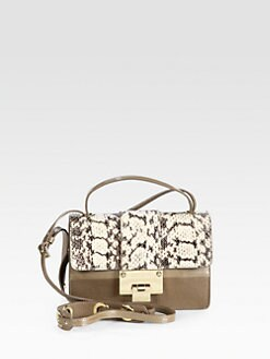 Jimmy Choo - Rebel Python & Leather Shoulder Bag