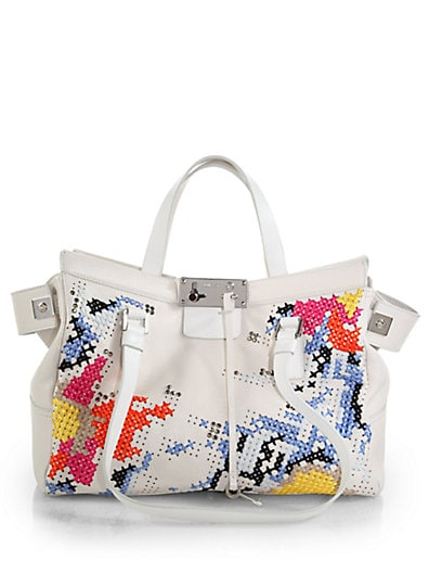 Farrah Cross-Stitched Tote