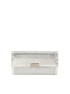 Jimmy Choo - Reese Glitter Metallic Clutch