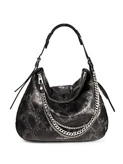 Jimmy Choo - Snake-Embossed Leather Hobo