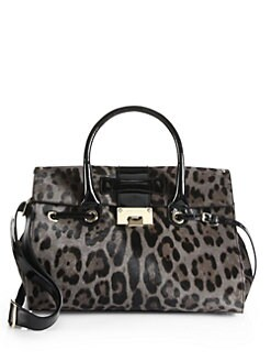 Jimmy Choo - Rosali Leopard Print Calf Hair Satchel