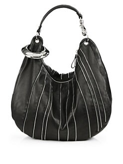 Jimmy Choo - Solar Large Zipper-Detail Hobo