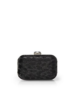 Jimmy Choo - Cloud Stone Embellished Velvet Clutch