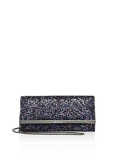 Milla Coarse Glitter Chain Wallet