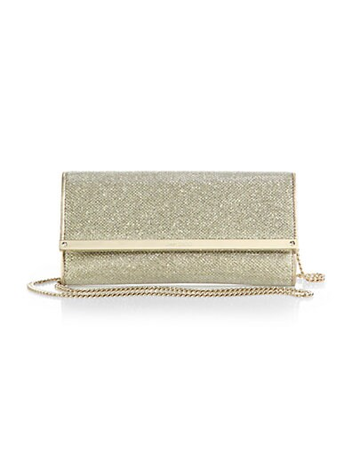 Milla Chain-Strap Glittered Wallet