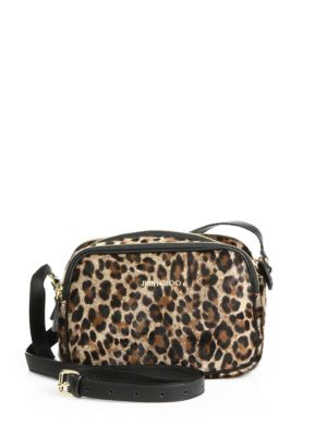 Opal Spotted Calf Hair & Leather Camera Bag