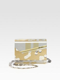 Jimmy Choo - Metallic Acrylic Clutch
