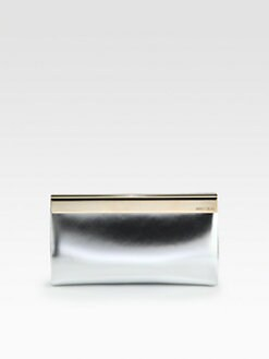 Jimmy Choo - Cayla Mirror Metallic Leather Clutch