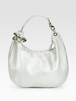 Jimmy Choo - Solar Large Metallic Deerskin Leather Hobo