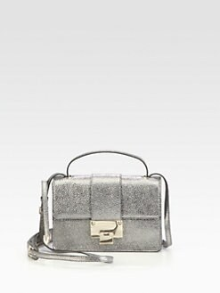 Jimmy Choo - Rebel Glitter Metallic Leather Crossbody