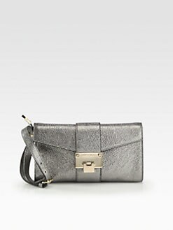 Jimmy Choo - Rivera Glitter Metallic Leather Wristlet