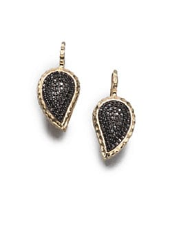 Phillips House - 14K Gold & Black Diamond Petal Drop Earrings