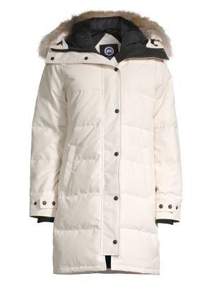 Shelburne Coyote Fur Trim Parka plus size,  plus size fashion plus size appare