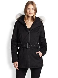 Canada Goose - Cortina Belted Fur-Trim Parka