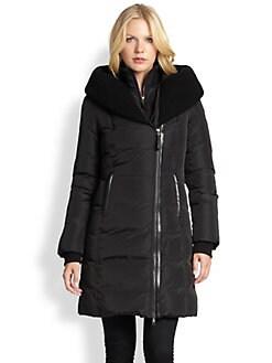 Mackage - Knit & Leather-Trim Down Jacket