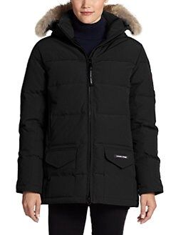 Canada Goose' Victoria Down Parka Genuine Fur Trim Coat