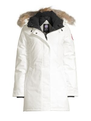 Victoria Fur-Trimmed Down Parka plus size,  plus size fashion plus size appare