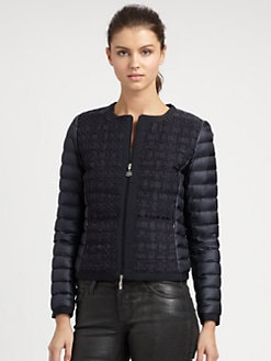 Moncler - Grosgrain-Front Puffer Coat