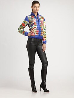 Moncler - Hibiscus-Print Puffer Jacket