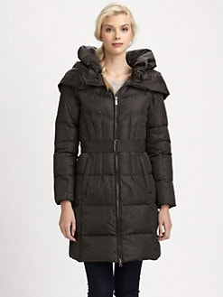 Add Down - Shawl Collar/Hood Quilted Coat