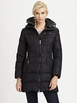 Add Down - Removable-Hood Quilted Coat