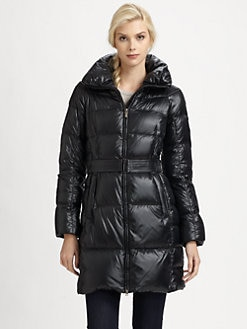 Add Down - Shiny Quilted Jacket