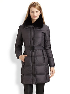 Add Down - Belted Quilted Coat