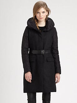 Add Down - Belted Combination Coat